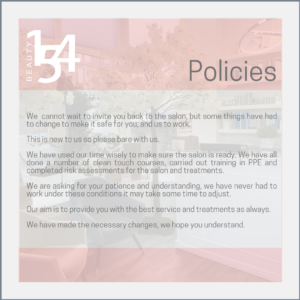 Salon Policies at Beauty 154